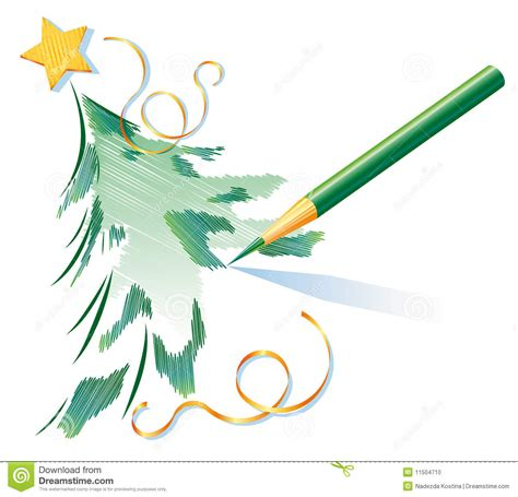 pencil drawings christmas trees pencil drawing of a tree stock vector image 11504710
