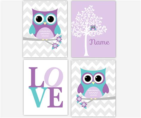 purple nursery decor nursery decor purple teal lavender owl tree baby