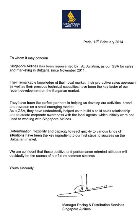 Reference Letter Strengths Sq Letter Of Reference Testimonials About Us Tal Aviation