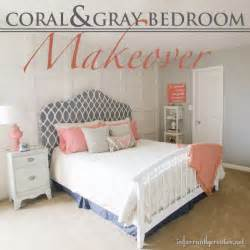 Coral And Grey Bedroom Coral Amp Gray Bedroom Makeover Room Reveal
