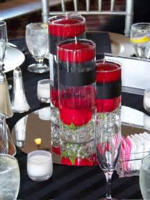Cylindrical Glass Vases Red Rose Center Piece My Tucson Wedding
