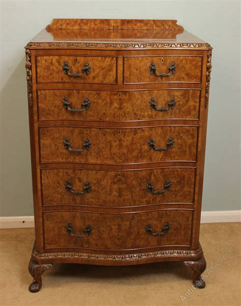 Antique Walnut Chest Of Drawers by Antique Burr Walnut Chest Of Drawers Antiques Atlas