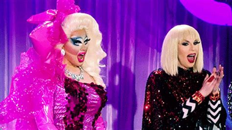 Australian Drag Stalks Michael Jackson by Image Trixie And Katya At The Season 7 Finale Gif