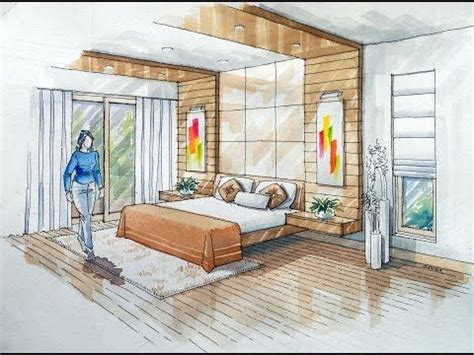 bedroom perspective 2 point interior design perspective drawing manual