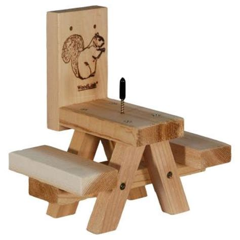 Squirrel Feeder Picnic Table woodlink picnic table squirrel feeder sqf7 the home depot
