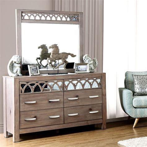 mirror finish bedroom furniture zaragoza rustic natural tone finish mirrored dresser mirror