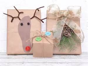 Brown Paper Bag Gift Wrap - three holiday gift wrap palettes house home party invitations ideas