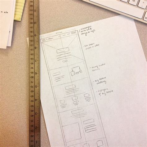 Sketches And Wireframes by Ui Ux Design Sketches And Wireframes From Instagram