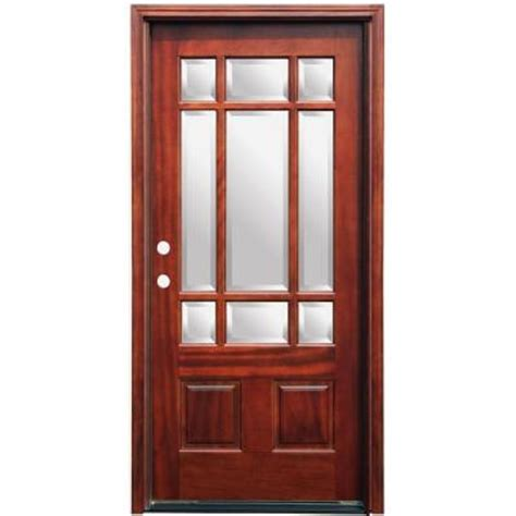 pacific entries craftsman 9 lite stained mahogany wood