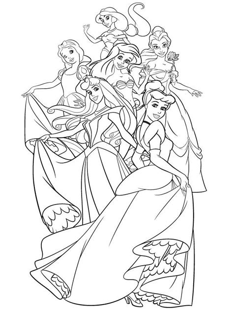 the princess a storybook to color all disney princess coloring pages coloring home