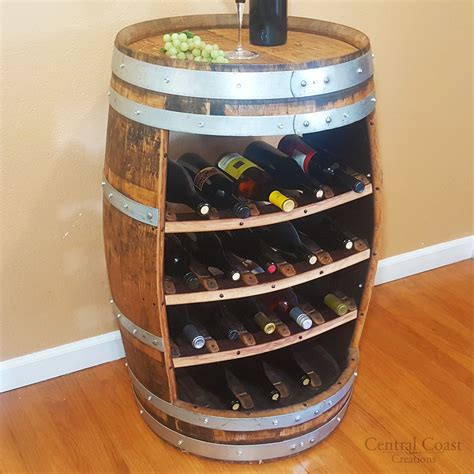 Wine Racks Made Out Of Wine Barrels by Wine Barrel 18 Bottle Wine Rack Free Shipping Central