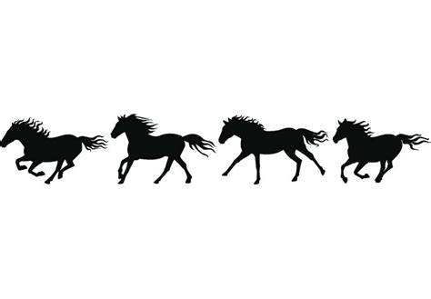 printable horse stickers how to draw horse border