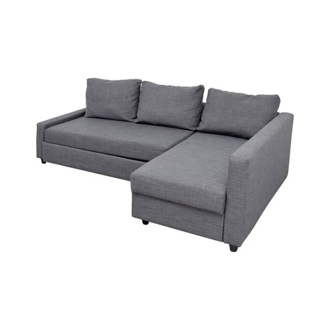 ikea sleeper sectional 41 off ikea ikea grey sleeper chaise sectional sofas