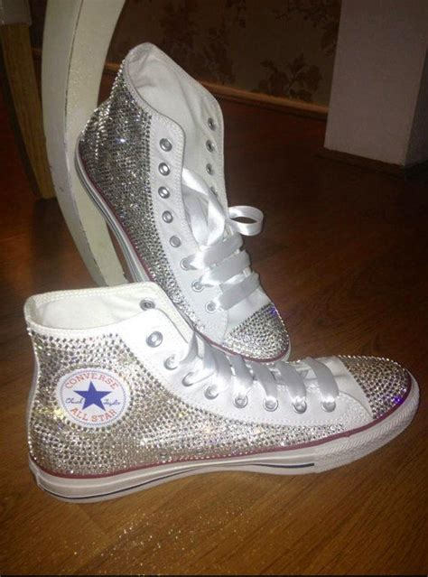 bling converse sneakers bedazzled rhinestone converse all from victorolla on etsy