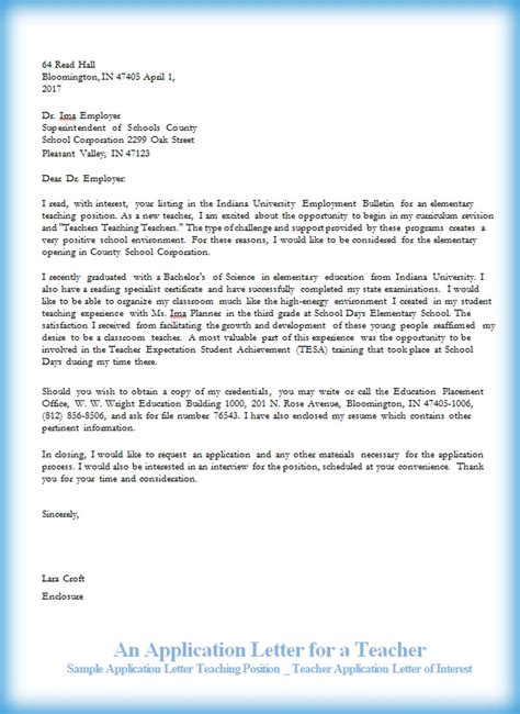 application letter for instructor position an application letter for a ninareads