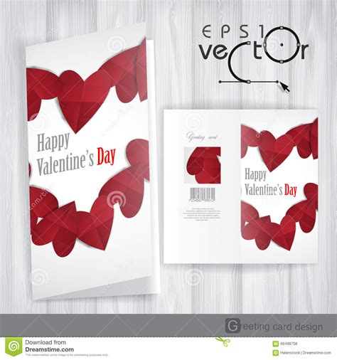 s day card design template greeting card design template happy valentines day stock