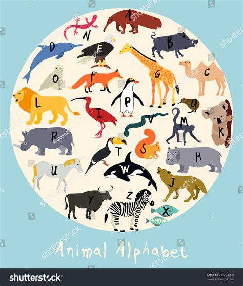 animal alphabet stock vector animal alphabet stock vector 235294000