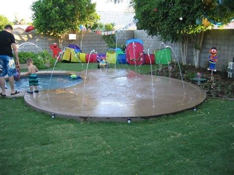 how to make a backyard splash pad backyard splash pad google search for the home pinterest
