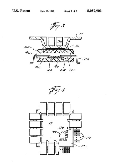 heat sink for integrated circuit patent us5057903 thermal heat sink encapsulated integrated circuit patents