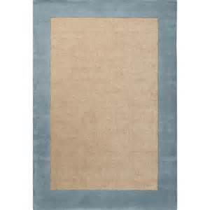 hickory jute rug with sky blue border sisal and jute