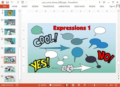 Comic Book Template Powerpoint animated comic template for powerpoint presentations