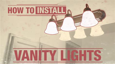 Installing A Vanity Light by How To Install Vanity Lights