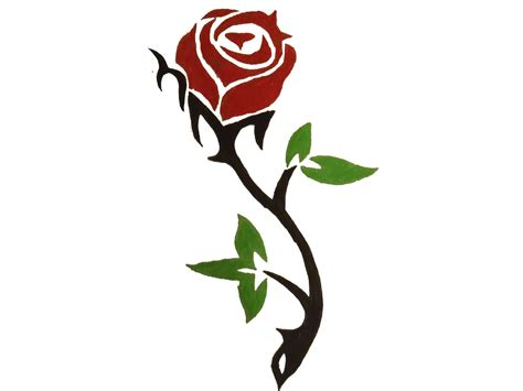 rose tattoo clipart free designs clipart best