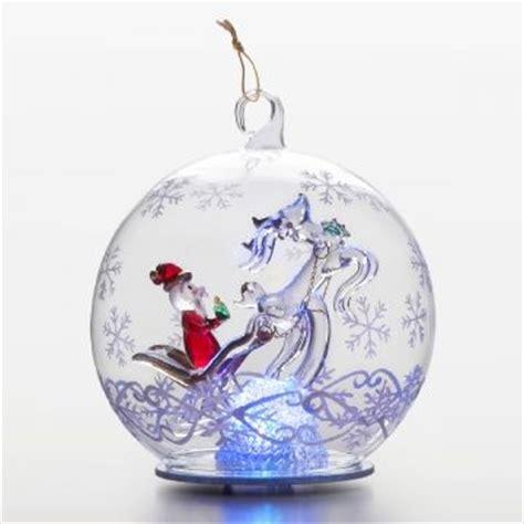 sorelle ornaments santa sleigh illuminated led globe a sorelle