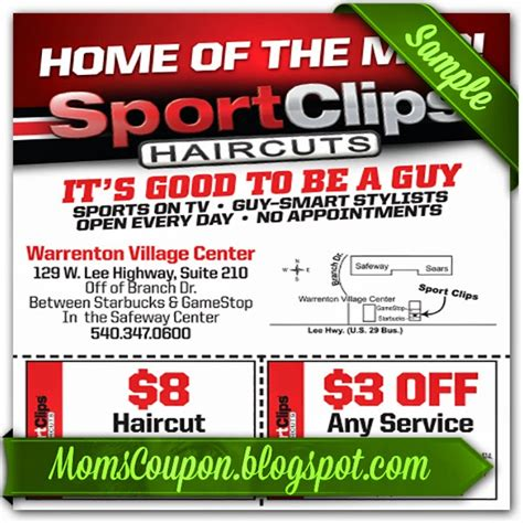 haircut coupons sport clips get sport clips coupons 2015 25 off mvp free