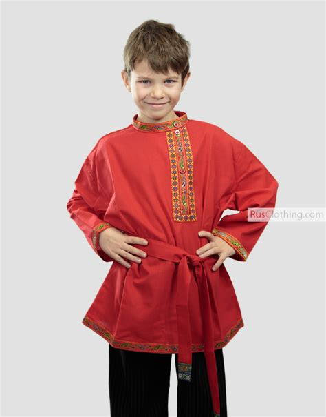 russian shirt kosovorotka for boys rusclothing