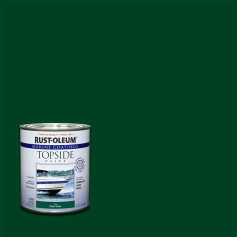 home depot deere paint rust oleum marine 1 qt green gloss topside paint