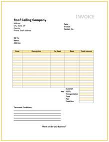 free roofing invoice template part 2