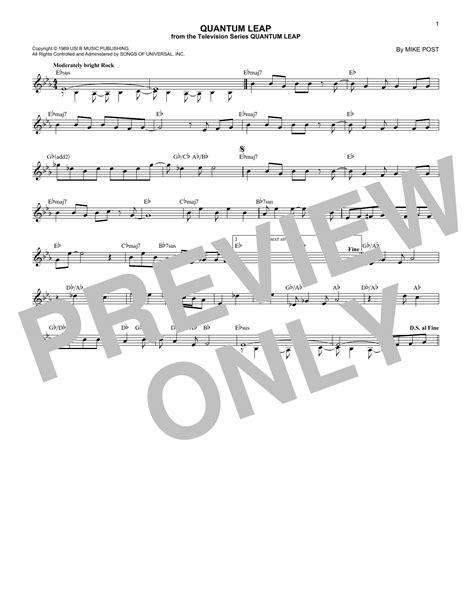 theme song quantum leap mike post quantum leap sheet music