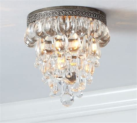 Pottery Barn Ceiling Lights Clarissa Glass Drop Flushmount Traditional Ceiling Lighting By Pottery Barn
