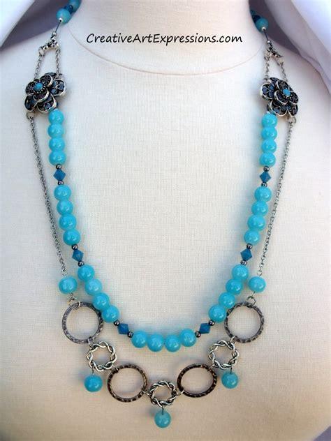 Creative Handmade Jewelry - creative expressions handmade blue flower