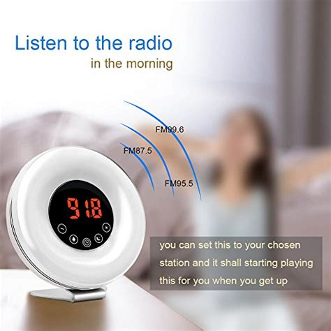 witmoving alarm clock wake  light bedside sunrise