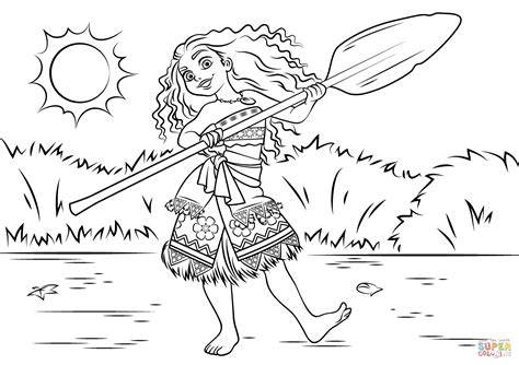 printable coloring pages moana princess moana waialiki coloring page free printable
