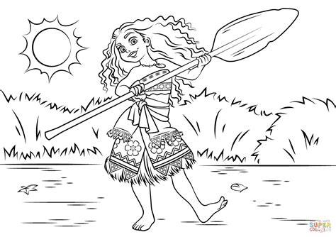 Princess Moana Waialiki Coloring Page Free Printable Coloring Pages Moana