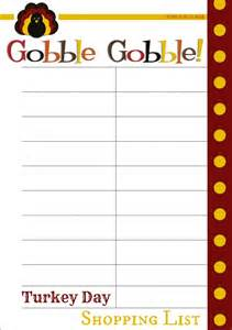 Thanksgiving Shopping List Template Free Thanksgiving Planner Printables Daily Dish Magazine