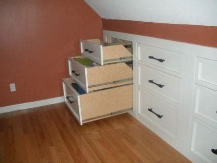 Diy Built In Dresser by Learn How To Install Knee Wall Storage Home Design