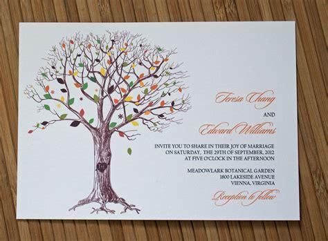 Wedding Invitations Tree rustic tree wedding invitation with carved initials ipunya