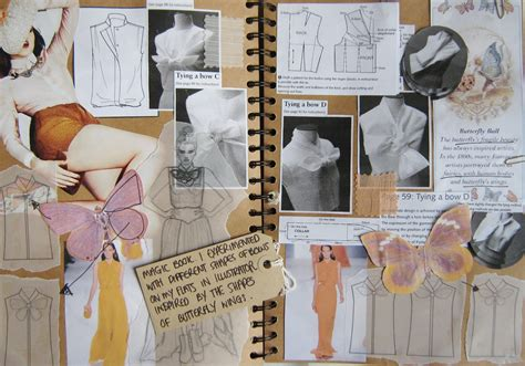fashion design research book key inspirational sketchbook pages samantha beth rounding