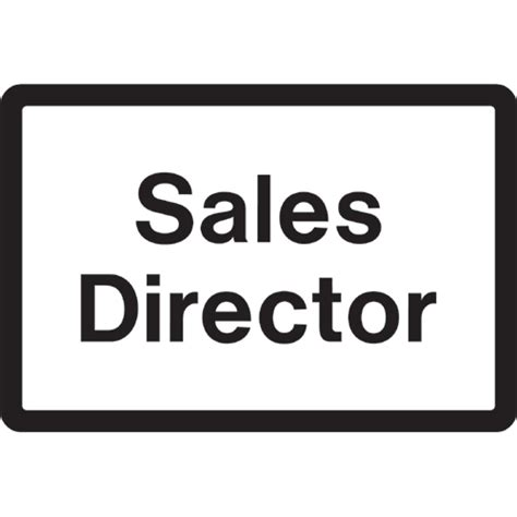 sales director sales director car park sign ref cp55 archer safety signs