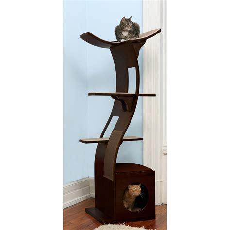 cat tree the refined feline lotus cat tower in
