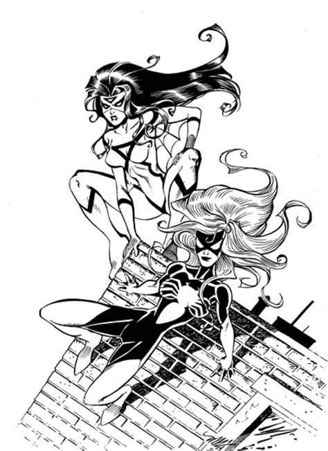spider woman coloring pages