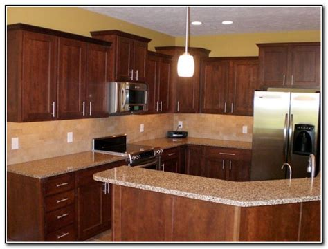 kitchen ideas with cherry cabinets cherry kitchen cabinets backsplash ideas kitchen home