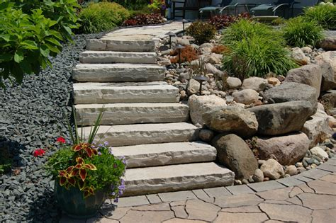Rock Garden Steps Rock Front Step Steps Landscaping Ideas