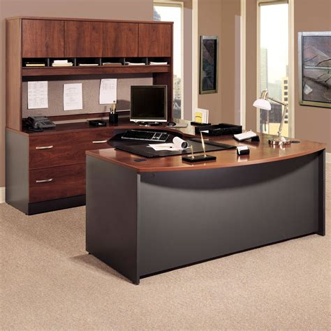 bush furniture series c 66 in office desk bush series c u shaped desk with 4 door hutch and lateral