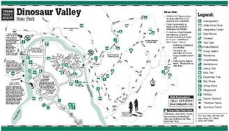 Dinosaur Valley State Park Map dinosaur valley state park