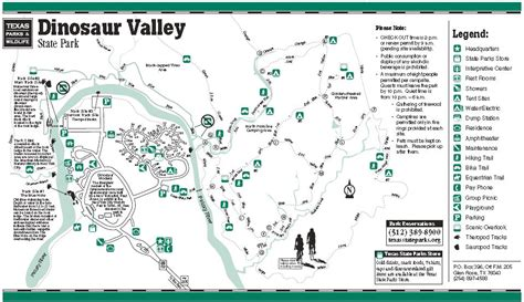state parks texas map dinosaur valley state park